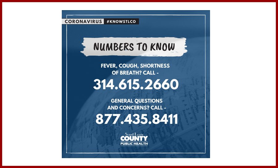 COVID 19 numbers to call