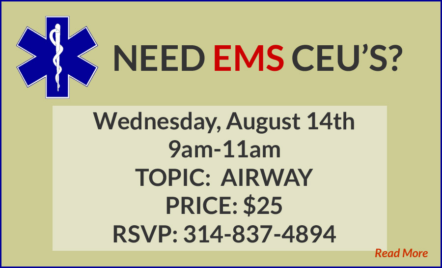 EMS Continuing Education Class Notice