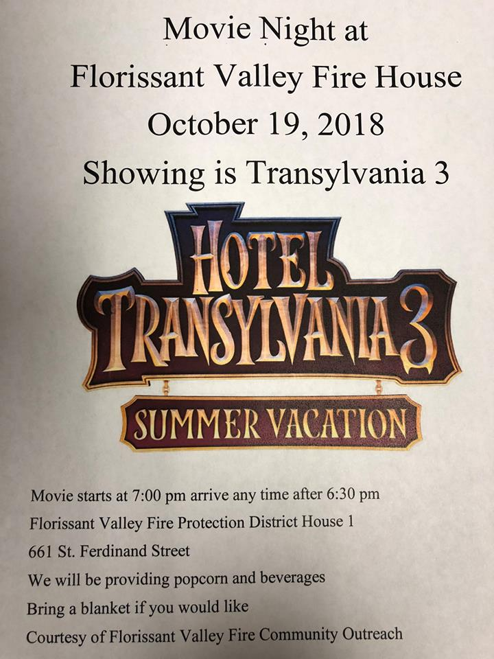 Hotel Transylvania 3 Movie Night Flyer