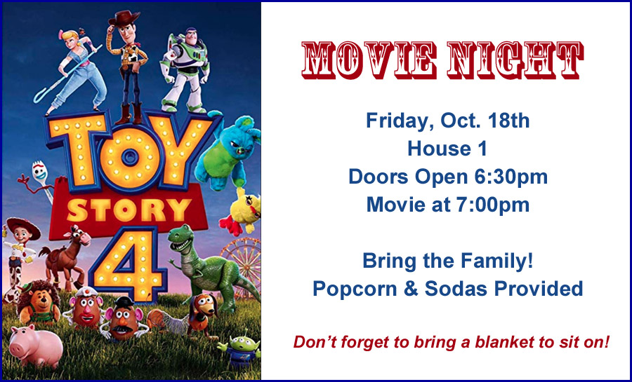 Toy Store 4 Movie Night at the Firehouse
