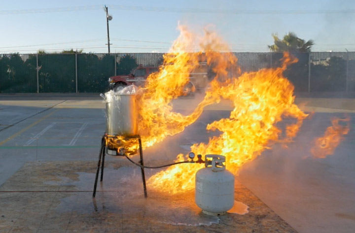 Turkey Fryer Fire