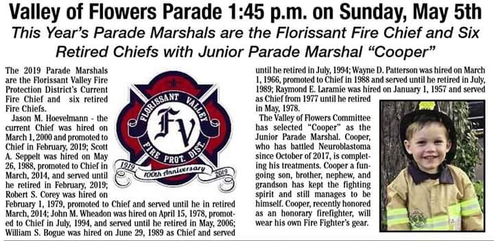 Valley of Flowers Parade Info