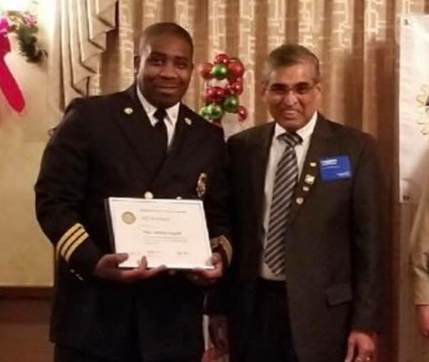 Fire Marshal Cliff Robinson Receives Award