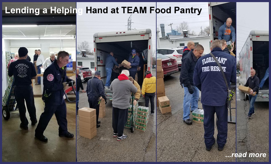 Lending a helping hand at a local food pantry