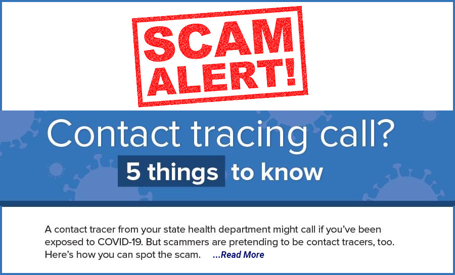 Covid Contact Tracing Scam Alert